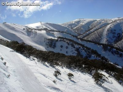Clear skies and slushy slopes, another day in the Aussie resorts