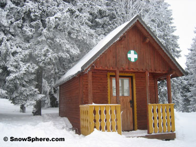 medial hut at rogla ski area