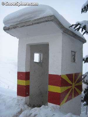 macedonia ski resort sentry box