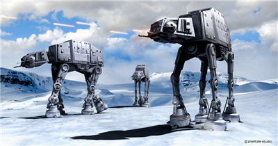 skiing hoth star wars
