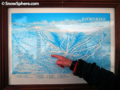 Ski map of Björnrike